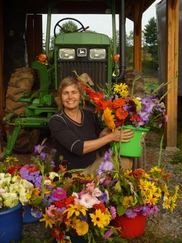 NACL Artistic Director Tannis Kowalchuk also grows flowers on Willow Wisp Organic Farm