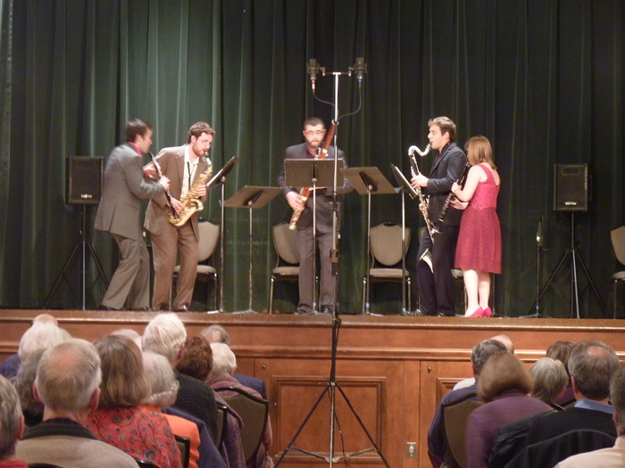Nov. 4, 2012: Akropolis on stage at the Community House in Birmingham, MI for the Detroit Chamber Winds and Strings' first subscription concert of the season and 31st annual gala.