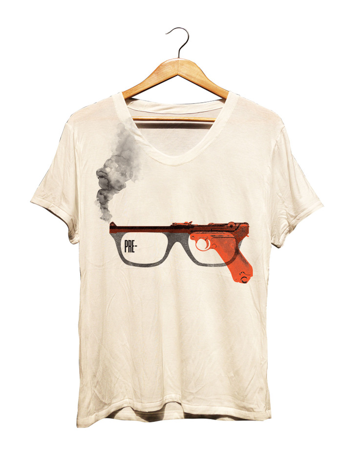 SPIES IN FILM - PARCHMENT WHITE V-NECK