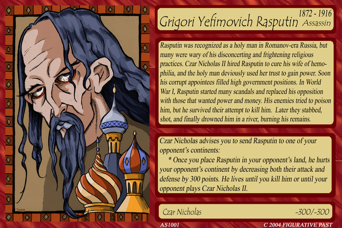Historical Conquest Card - Rasputin