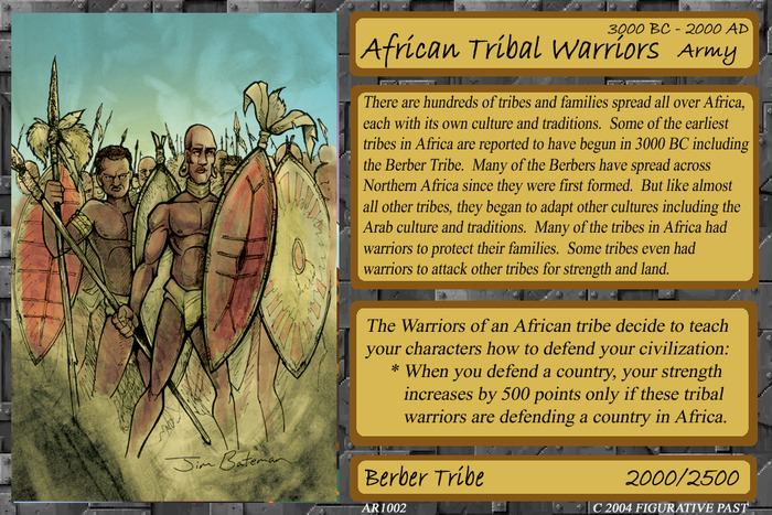 Historical Conquest Card - African Tribal Warriors