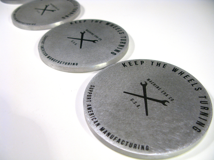 Special Edition Kickstarter Coasters made from solid aluminum