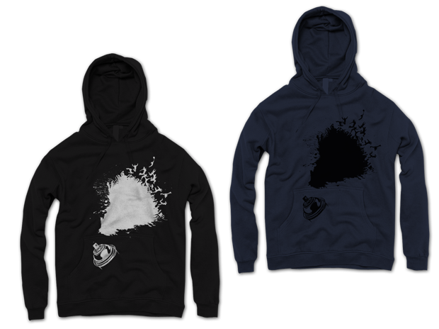 Urban Punk Leave Your Mark Hoodie Design (Left: Black, Right: Navy)