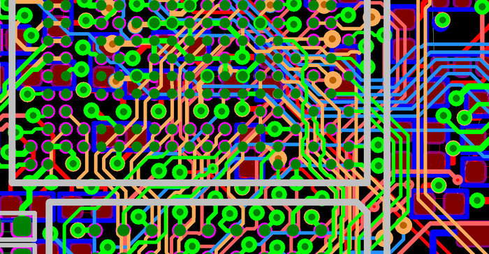 The 8-layer High-Density-Interconnect printed circuit board with laserdrilled blind and buried vias