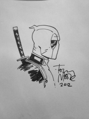 TONY MOORE DEADPOOL SKETCH $50