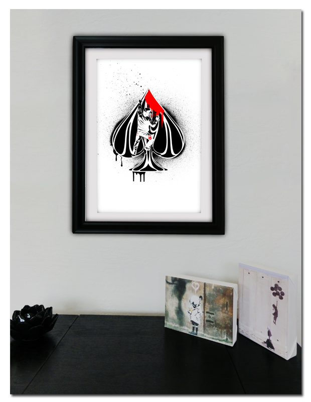 Urban Punk Ace of Spades Print (Frame Not Included)