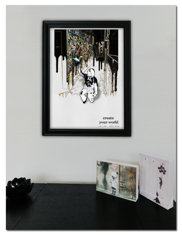 Urban Punk Make Your World Art Print (Frame Not Included)