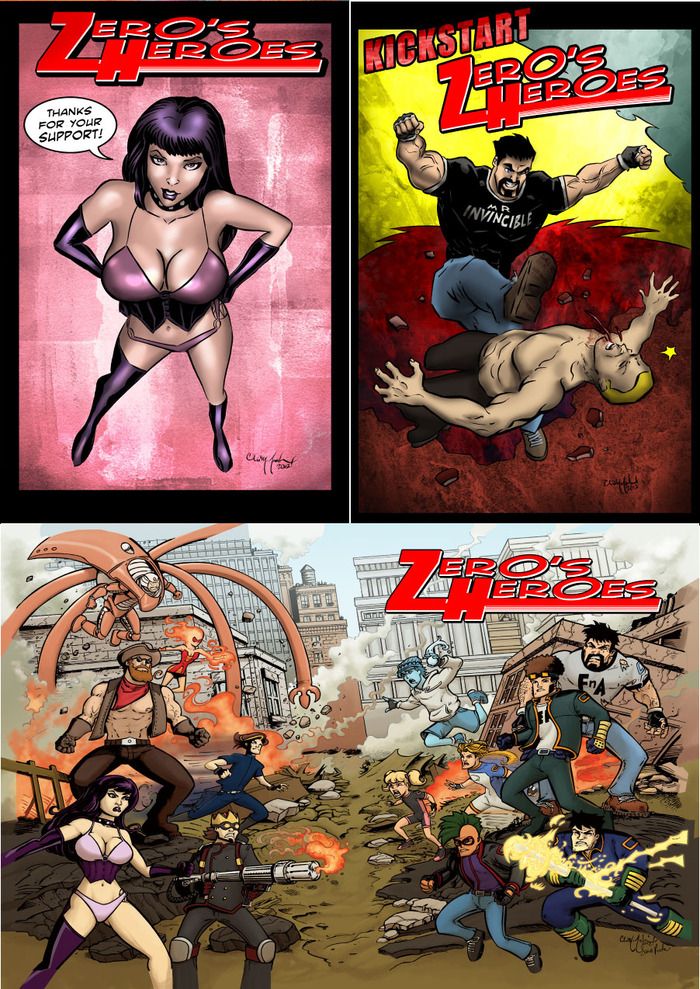 Three exclusive art prints by Chris McJunkin!
