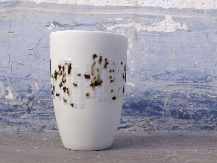 ReMark Series porcelain cup by BoomWehmeyer