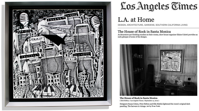 Original Art by Evan York, featured in the L.A. Times Design Section