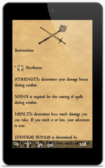 Actual gameplay using our working Gamebook and CCG engine code.