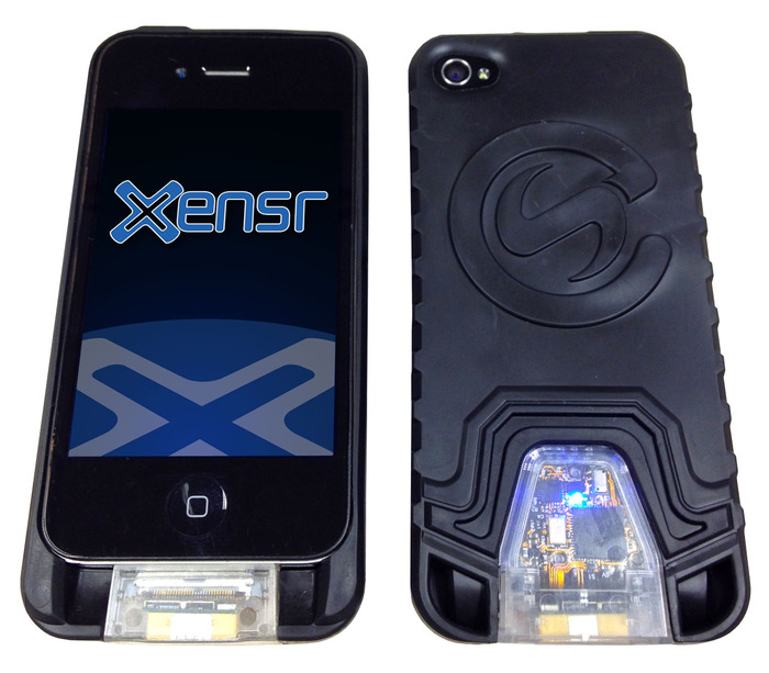 Front and back of the iPhone XensrCase