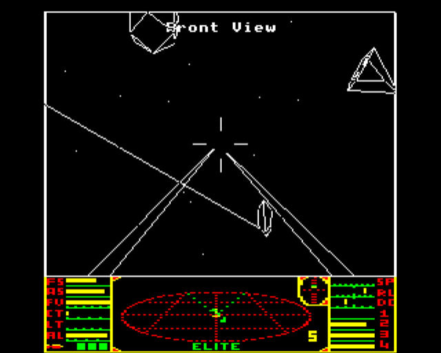 "Combat in the original ""Elite"" on the BBC Micro"