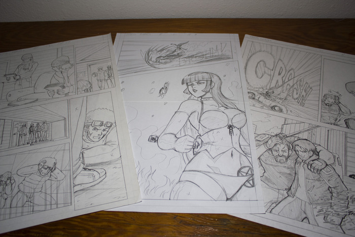 100 pages of original art from the first 7 Chapters!