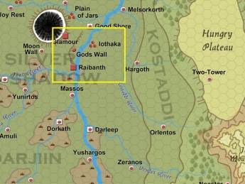 A small piece of a zoomed in map....