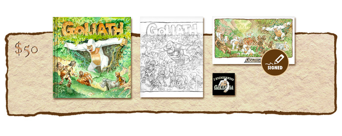 "KICKSTARTER EXCLUSIVE ""GOLIATH ARRIVES!"" VARIANT COVER EDITION PLUS SKETCHBOOK COVER #2"