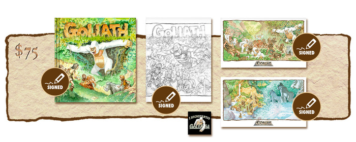 "SIGNED KICKSTARTER EXCLUSIVE ""GOLIATH ARRIVES!"" VARIANT COVER EDITION PLUS SIGNED SKETCHBOOK COVER #2"