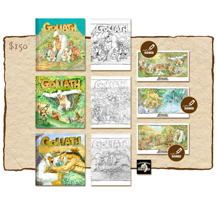 "KICKSTARTER ""ALL THREE BOOKS AND ALL THREE SKETCHBOOKS PLUS THREE SIGNED PRINTS"" EDITION"
