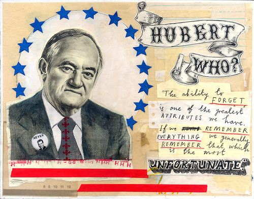 Hubert Humphrey (1968) by David Fullarton