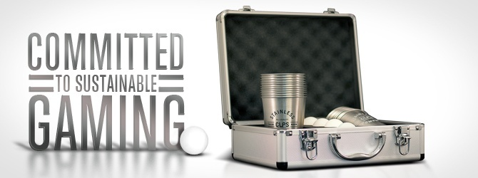 Our 22 Cup Stainless Beer Pong™ set