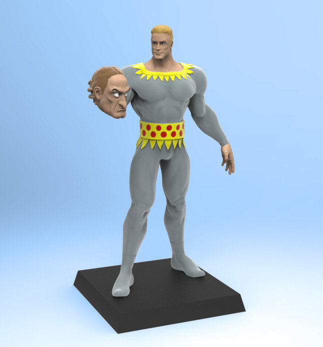 Digital maquette of the production hand-painted Stardust figurine.