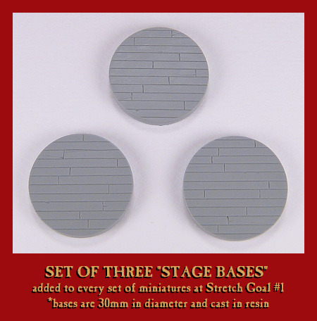 The set of three, 30mm resin bases!
