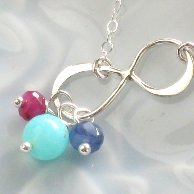 Infinity Birthstone Necklace