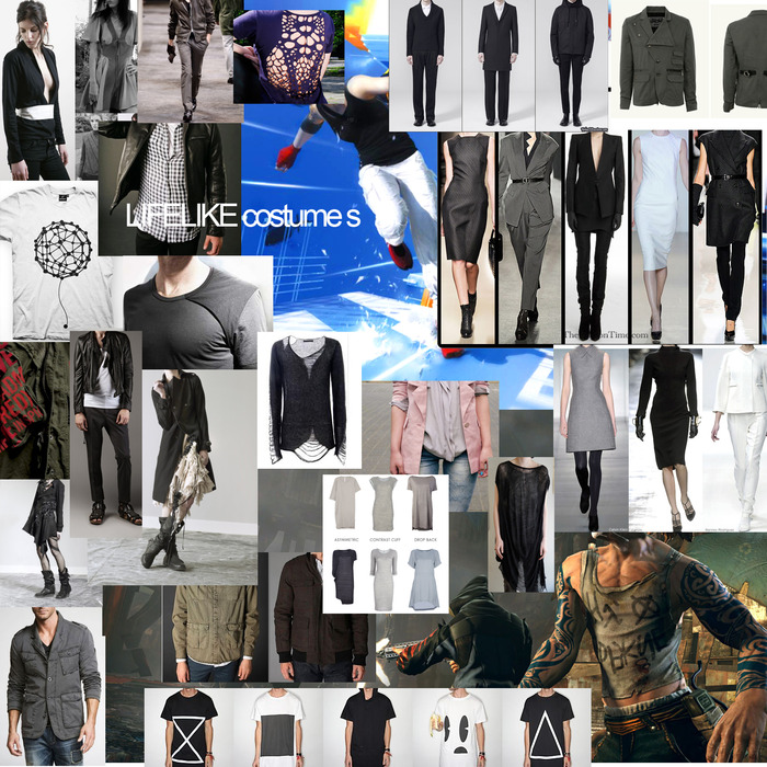 LIFELIKE's costumes will be minimalist and utalitarian with a dash of urban cool.
