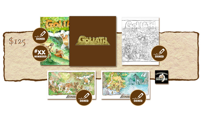 "DELUXE SIGNED AND NUMBERED KICKSTARTER EXCLUSIVE ""GOLIATH ARRIVES!"" SLIP-CASED VARIANT COVER EDITION PLUS SIGNED SKETCHBOOK COVER #2"