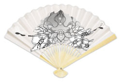 Hand-painted paper fan
