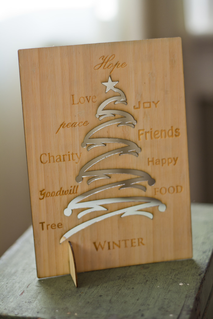 Christmas Tree 4 - Wooden Bamboo Veneer-ply Card