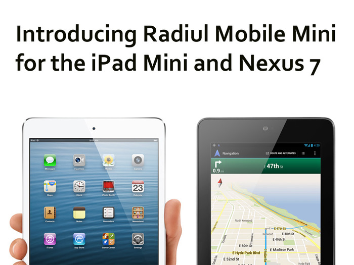 Backers can choose Radiul Mobile for laptops and iPad, or the Mini version for smaller tablets.