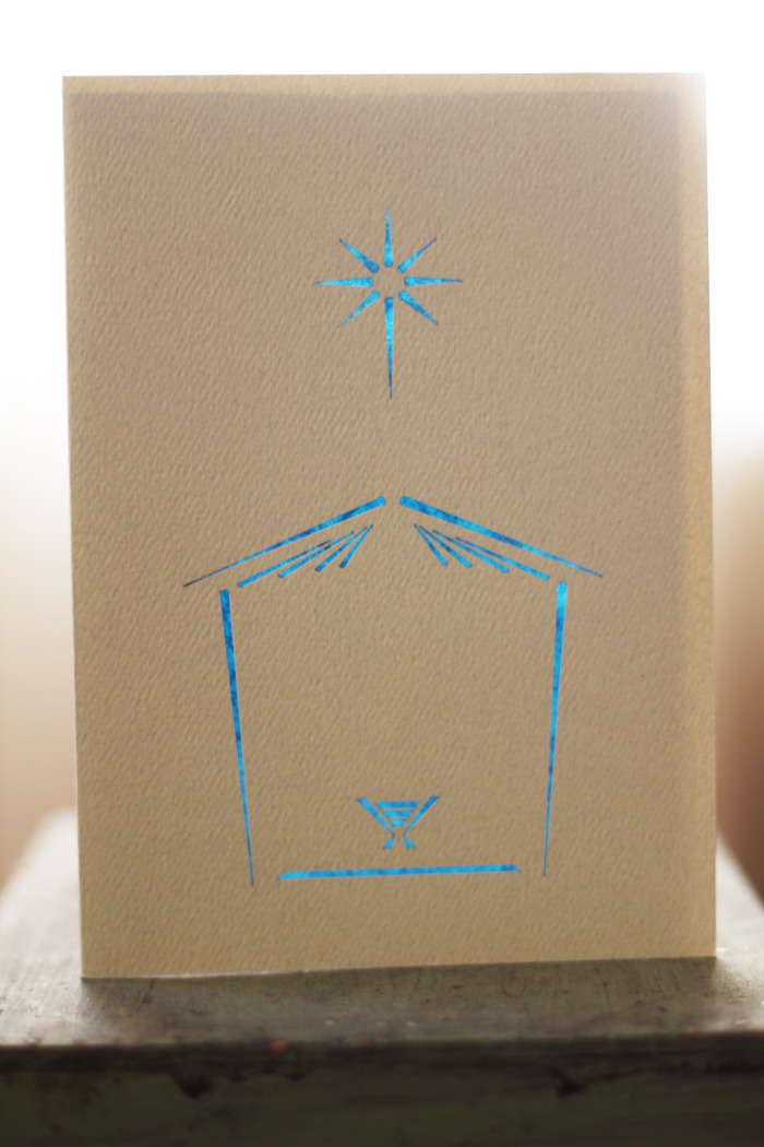 Nativity 1 - Recycled Fiber Card