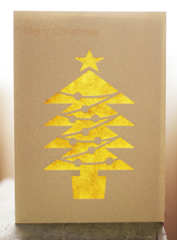 Christmas Tree 3 - Recycled Fiber Card