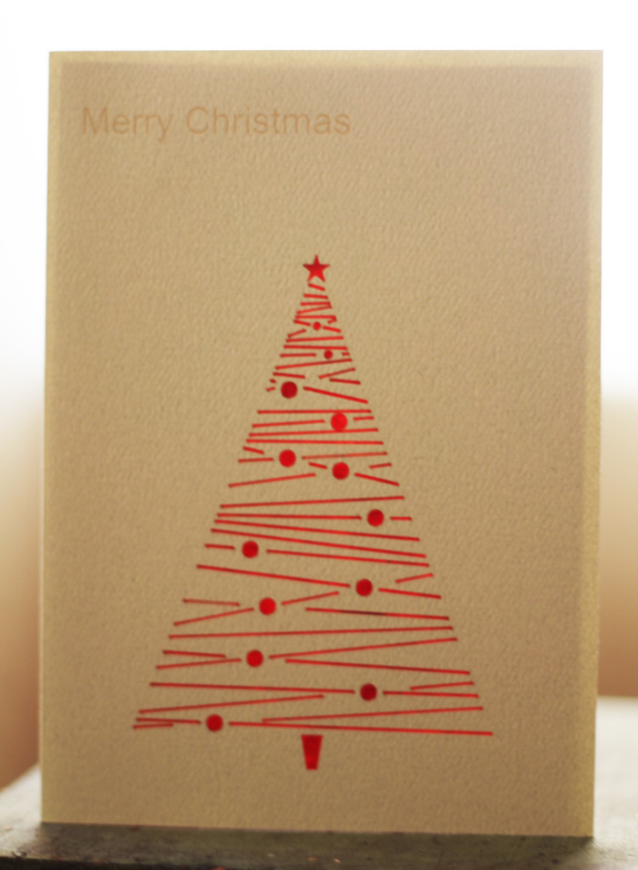 Christmas Tree 4 - Recycled Fiber Card