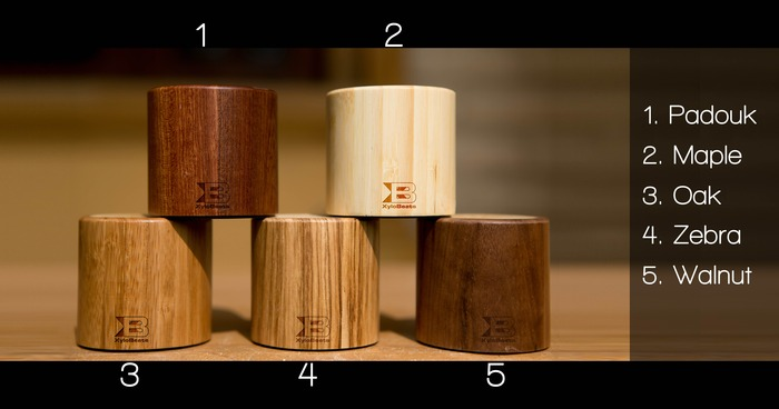 Five wood finishes of XyloBeats