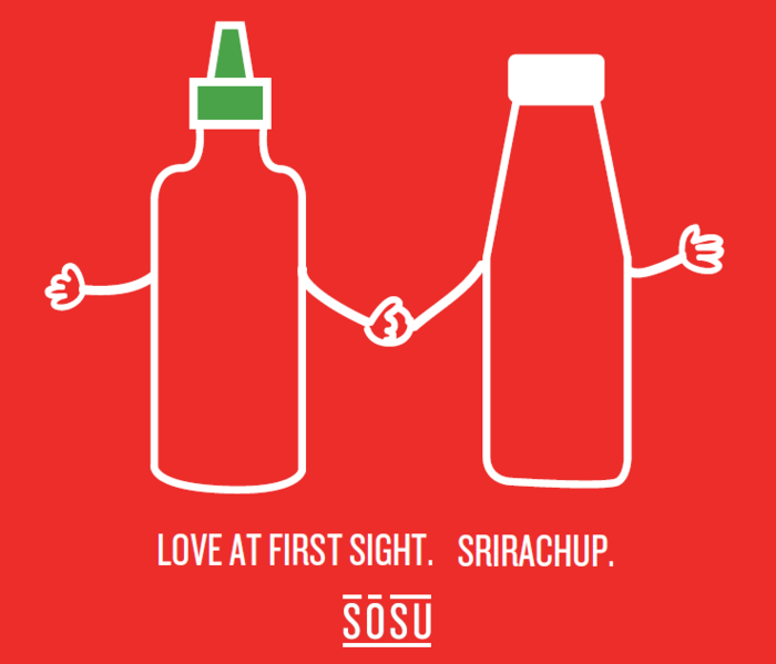 Sriracha + Ketchup = Srirachup