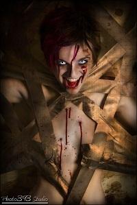 Anneliese Heggli as Haley Sin (Crazy Zombie Slayer Henchwoman)
