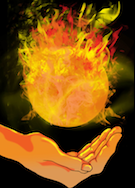 Fireball: Ranged spell that deals 2d6 magical damage.