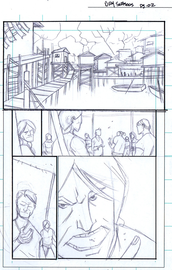 In-progress pencils by Ryan Cody