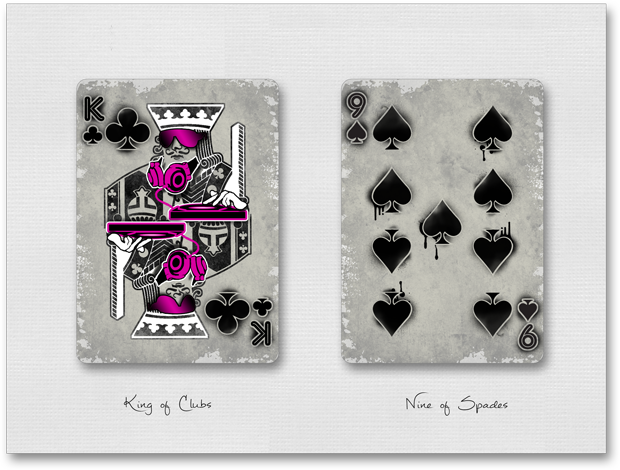 Urban Punk King of Clubs & Nine of Spades