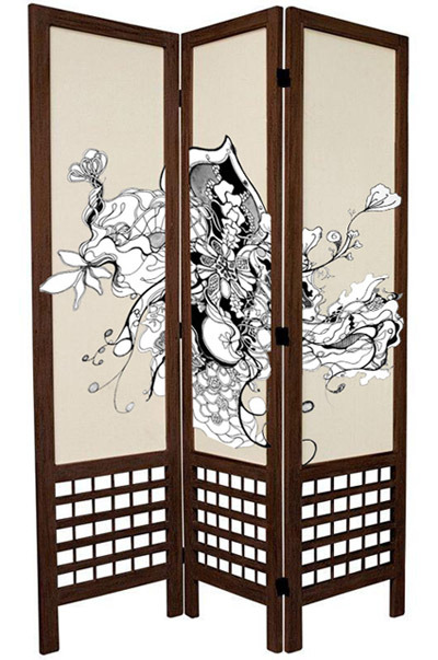 Rendering of hand painted Shoji screen