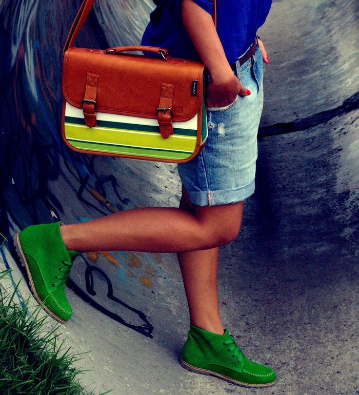 University Handbag (Lime & Lemon) and Colorines (Green) - a Kickstarter exclusive!