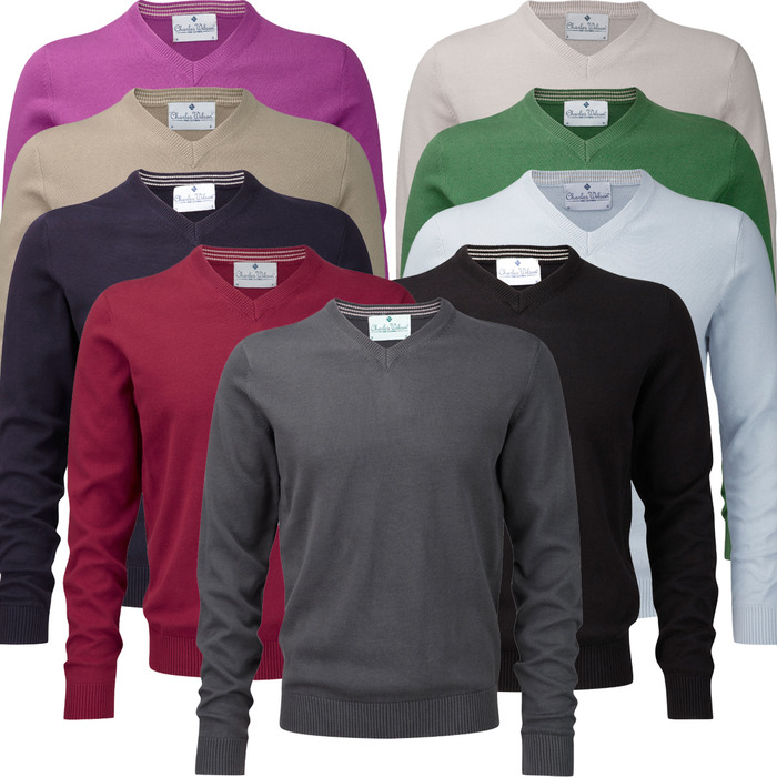 Our current V-neck sweaters