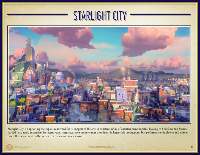Starlight City - The Setting For Clownin', Miming & Tricks Galore