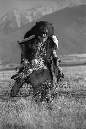 """Bear Dancer"" limited edition black & white photograph by Pam Voth for backers at the $2500 and above levels."