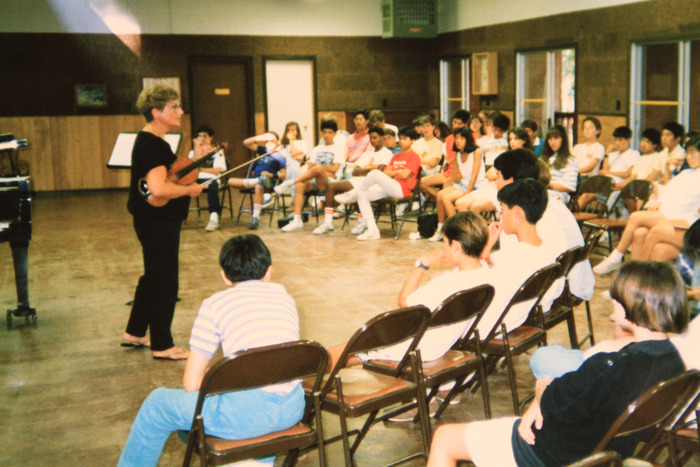 For years, Mentor Jenny Rudin taught students at PACO's summer music camp.  Today, teachers carry on the same tradition inspiring students who sometimes wake up at 5:00 am to practice!