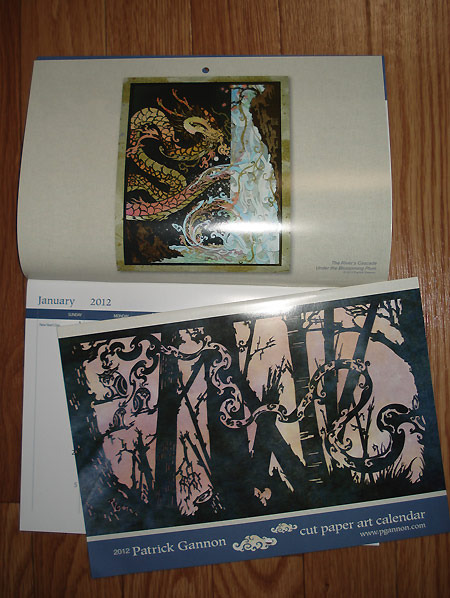 Last year's calendar - along with 2012's Year of the Dragon design