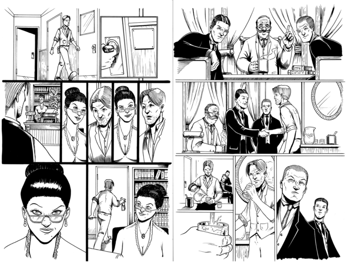 pages 12-13 inks