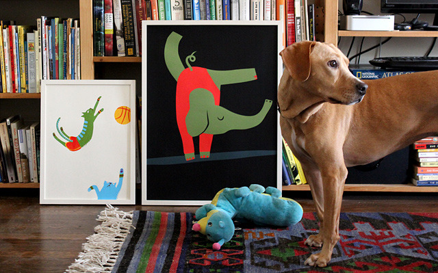 Posters! Of animals! Playing sports!